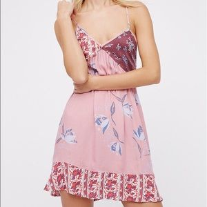 LOWEST PRICE Free People All Mixed Up slip Floral